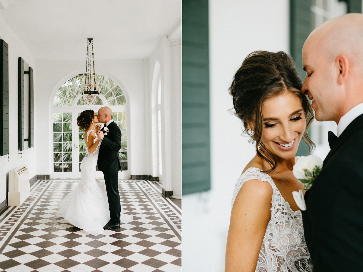 Lowndes Grove Plantation bride and groom portraits